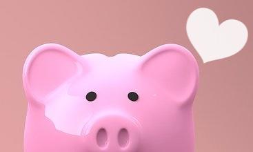 豚さん貯金箱ハート