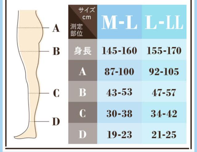 ベルミススリムレギンスサイズ表